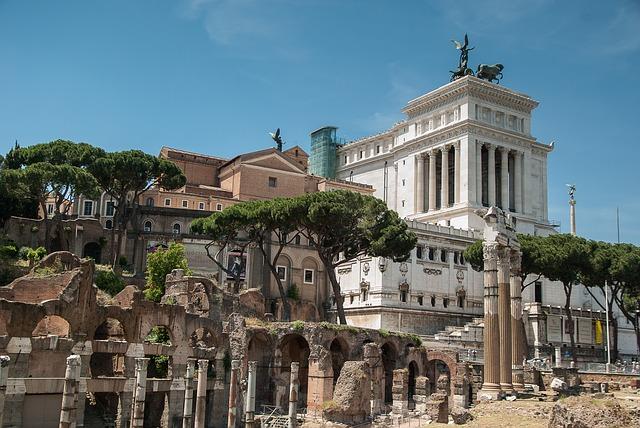stavba v Římě