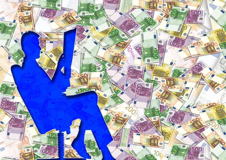 silueta u peněz